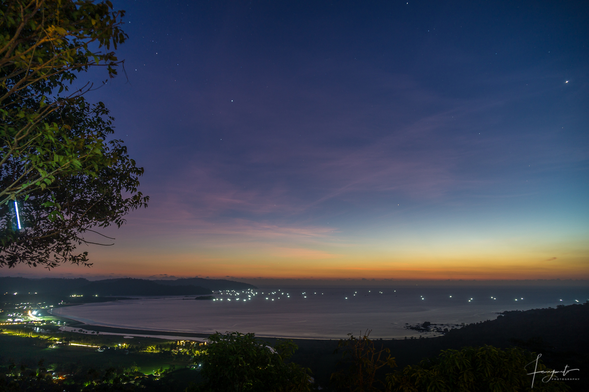 View Sunset Pantai Palampang dari Bukit SOCA